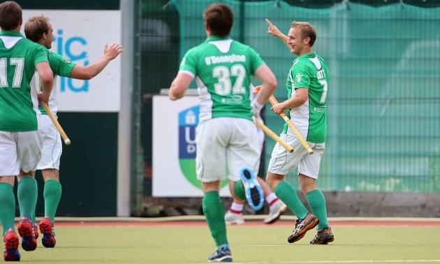 Michael Watt celebrates scoring