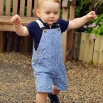 On July 23 Prince George celebrated his 1st Birthday.  Photographed John Stillwell <span class=