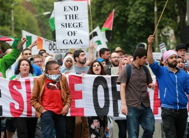 Scenes from the protest at the Israeli Embassy last Saturday.