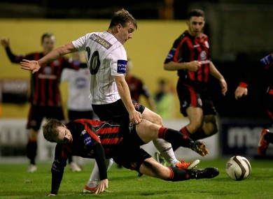 Vinny Faherty (pictured here playing for Dundalk last season) scored a brace for Galway.