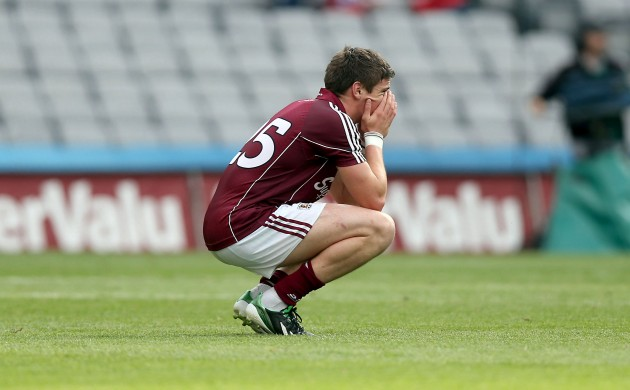 Shane Walsh dejected after the game