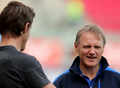 Easterby [L] chats to Joe Schmidt before their sides meet in the Heineken Cup in 2012.