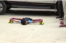 This 6-year-old skating under 39 SUVs has to be seen to be believed