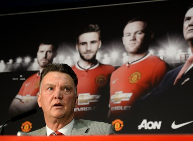 Louis van Gaal expressed his dissatisfaction with United's performance against Roma.