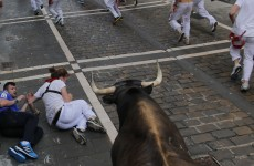 Two people gored at the running of the bulls in Pamplona
