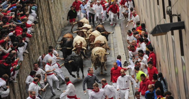 Three injured – one with suspected leg fracture – during Pamplona bull run