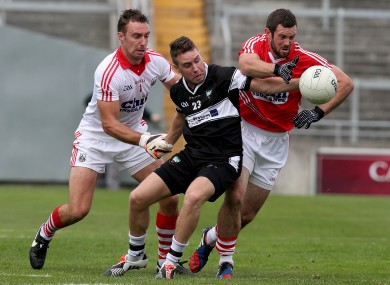 Ken O'Halloran and Noel Galvin in action against Sligo.