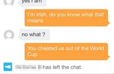 Irish guy burns French girl on dating app over Thierry Henry handball