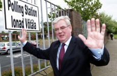 Clearing the way: Eamon Gilmore has officially resigned as Tánaiste
