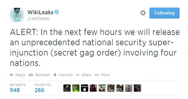 Wikileaks are up to something tonight… But what?