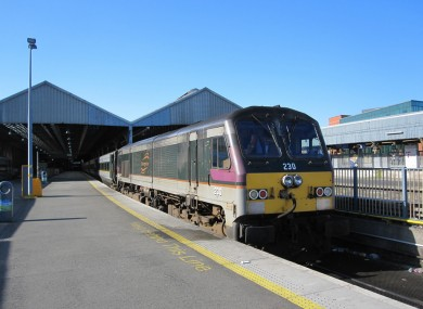 File photo of a Enterprise line train at Dublin's Connolly station.