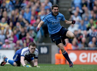 Bernard Brogan celebrates his goal.