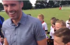 Irish kid asks Jamie Carragher if he's ever been bitten by Luis Suarez