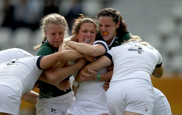 Claire Molloy and Paula Fitzpatrick tackle Jo McGilchrist