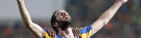 Cillian Sheridan smashes in a gorgeous volley as APOEL power into Champions League