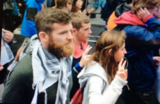 Snapshot: Gordon D'Arcy among those in attendance at Gaza protests in Dublin