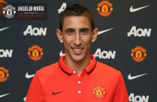 Angel delight: Manchester United bag Di Maria for British record €75m fee