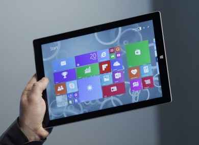 The Surface Pro 3 tablet, which currently runs Windows 8.1.