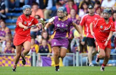 Cork lead Wexford at half-time in the All-Ireland senior camogie semi-finals