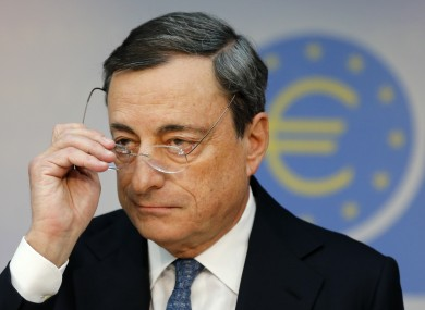 President of European Central Bank Mario Draghi.