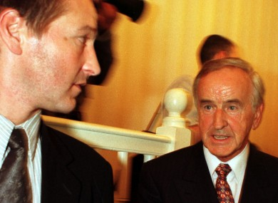 Albert Reynolds and his son Philip (left) in 1997.