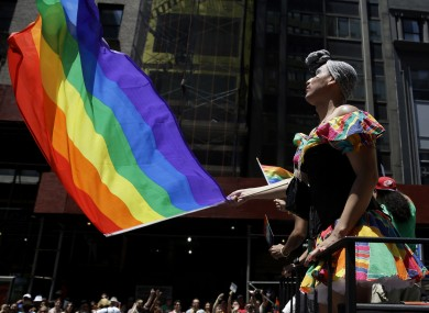 The Gay Pride Parade in New York.