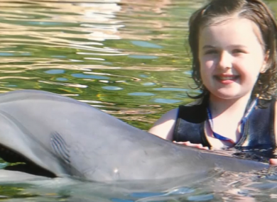 Ashleigh Kiernan, whose wish to swim with dolphins was made possible by the charity.