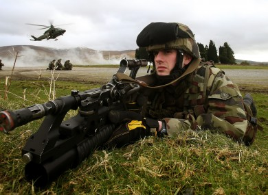 Members of the 44th Infantry Group train in Wicklow earlier this year.