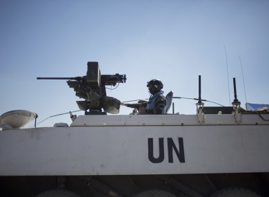 Armored vehicles from UNDOF in the Golan Heights this week.
