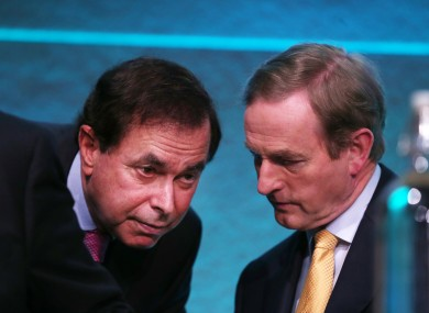 Alan Shatter and Enda Kenny in happier times.