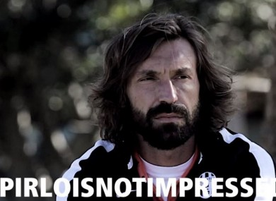 Is Pirlo being cool or cold in this video?
