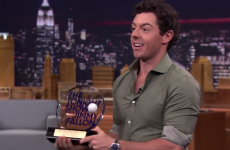 Rory McIlroy was on Late Night with Jimmy Fallon and inevitably won another trophy