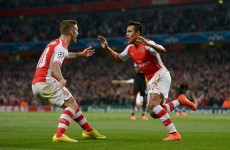 Alexis Sanchez strike sends 10-man Arsenal through