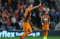 Two goals from Robbie Brady couldn't keep Hull in the Europa League tonight