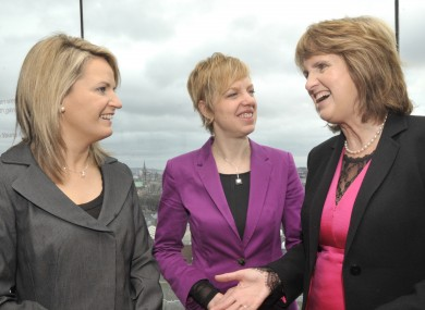 Labour senators Lorraine Higgins and Ivana Bacik, pictured with Joan Burton, are among those who think there should be a fresh abortion referendum.