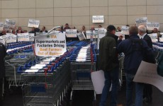 "Beef farmers launch ""blitz"" at Tesco in Naas"