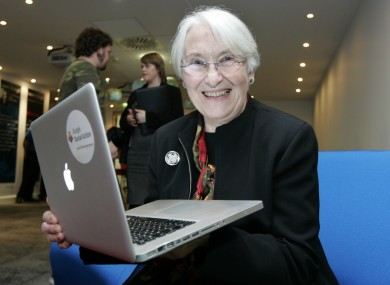 File photo of Dorothy Harrington at the Google/Age Action Silver Surfer Awards in Dublin.