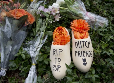 A message of sympathy for the victims of the flight MH17 disaster.
