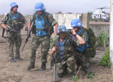 Irish peacekeepers.