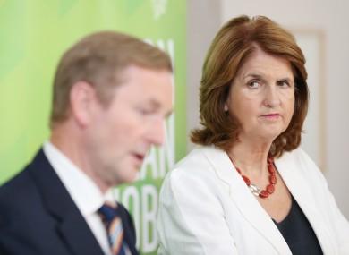 Tánaiste Joan Burton with Taoiseach Enda Kenny