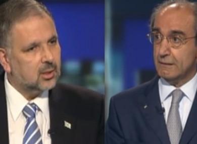 Israeli ambassador Boaz Modai (L), and Palestinian ambassador Ahmad Abdelrazek (R) will appear before TDs and Senators today.