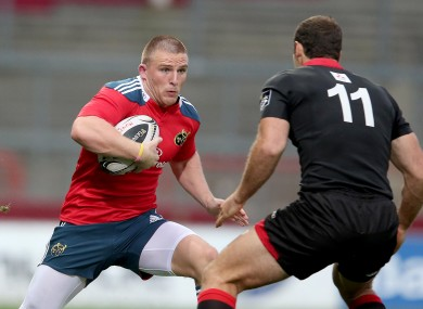 Conway has started both of Munster's Pro12 games so far this season.