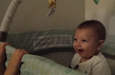 Cutest baby ever cracks up at his sister's 'Peek-A-Boo'