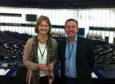 Deirdre Clune, alongside fellow FG MEP Brian Hayes.