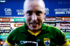 'Well Joe Brolly, what do you think of that?!' Kieran Donaghy lets out a post-match roar