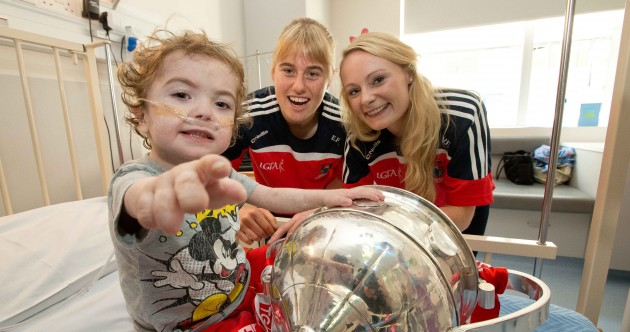 Snapshot – All-Ireland champions Cork visited Crumlin Children's Hospital today