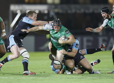 Connacht's Eoin McKeon is brought down.