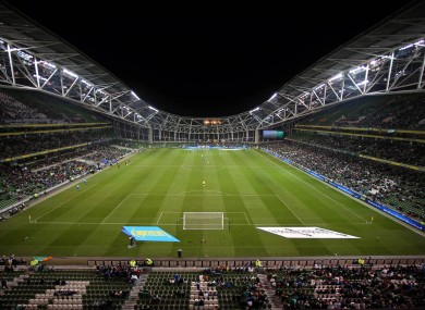 The Aviva Stadium's facilities were largely praised by UEFA's report.