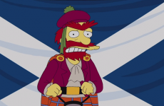 The Simpsons' Groundskeeper Willie has weighed in on Scottish independence…