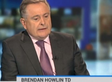 Brendan Howlin speaking on RTÉ today.